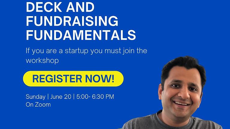 Startup Workshop - Basics of Pitch Deck & Fundraising Fundamentals