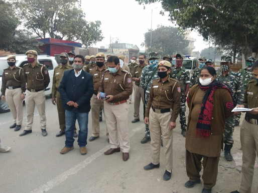 DCP OFFICE, Delhi POLICE joins hands with I2cure to fight against COVID-19 in the Capital