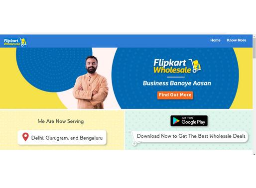 Flipkart starts wholesale e-commerce service in India