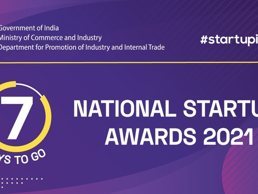 Only 7 days left! Apply now to win the National Startup Awards 2021