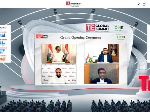 Venkaiah Naidu inaugurates TiE's Virtual Global Summit, the world's largest entrepreneurship summit.
