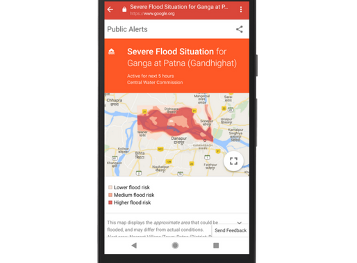 Google ties up with CWC to provide flood alerts on Android phones