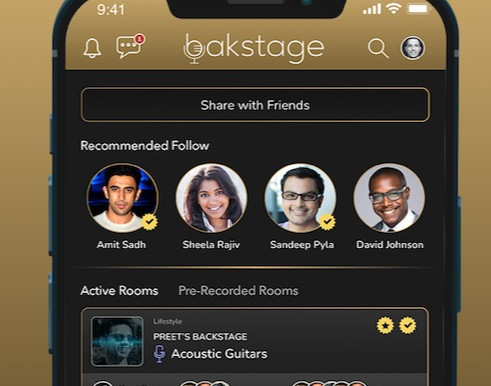 Bakstage, FLYX's newest product, makes audio conversations social and fun for both Android and iOS