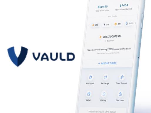 Crypto lending platform Vauldraised $2 mn