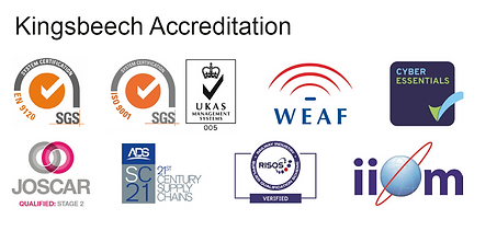 Kingsbeech accreditation logos