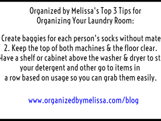 Organized by Melissa's Top 3 Tips for Organizing Your Laundry Room