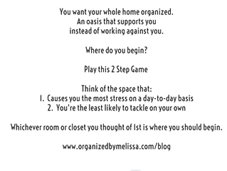 Where to Begin if You Want Your Whole Home Organized