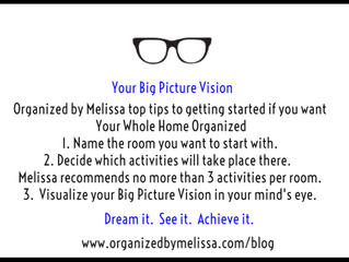 Organized by Melissa's Top 3 Tips to Reach Your Big Picture Vision