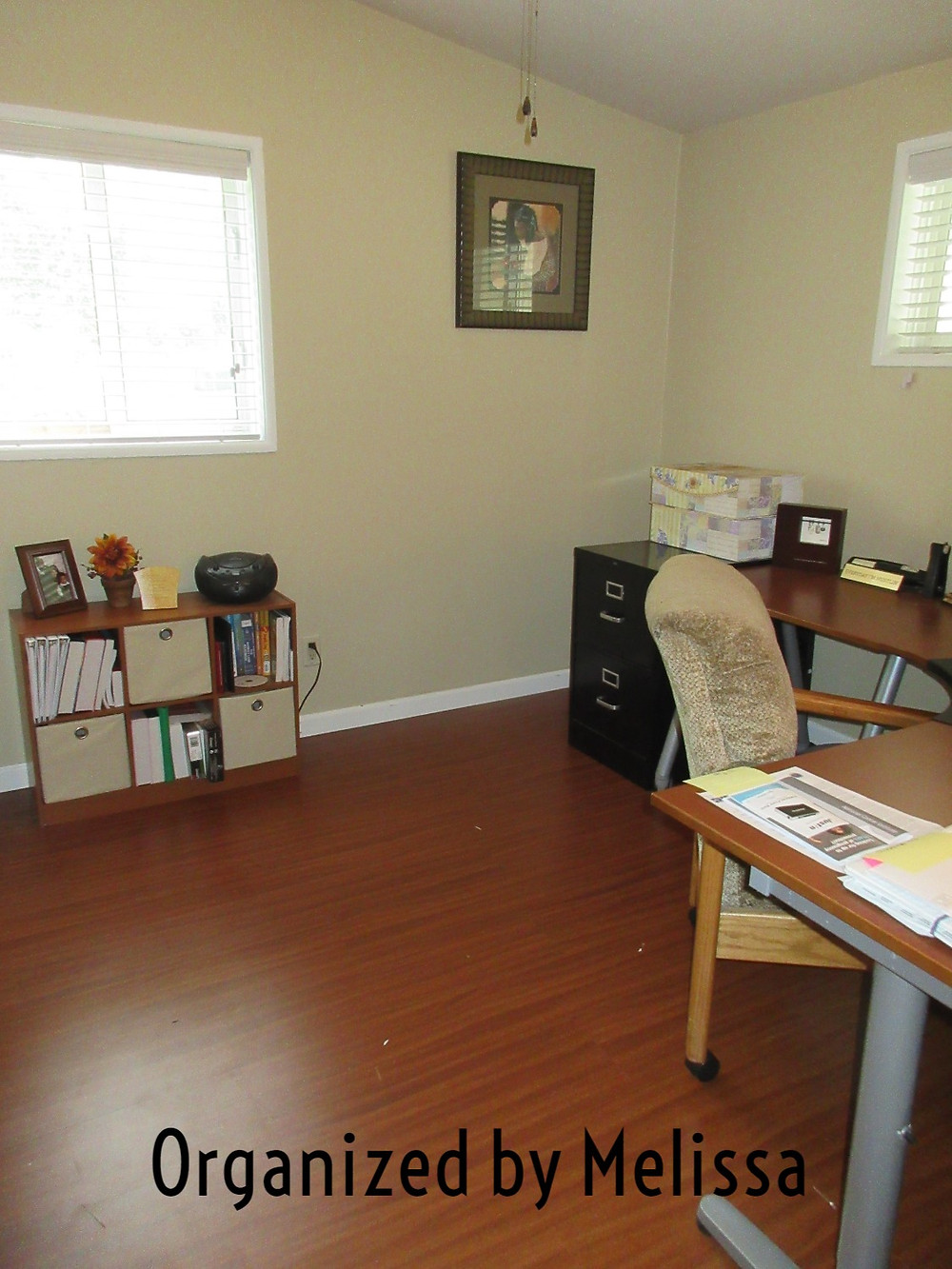 A Home Office Organized by Melissa