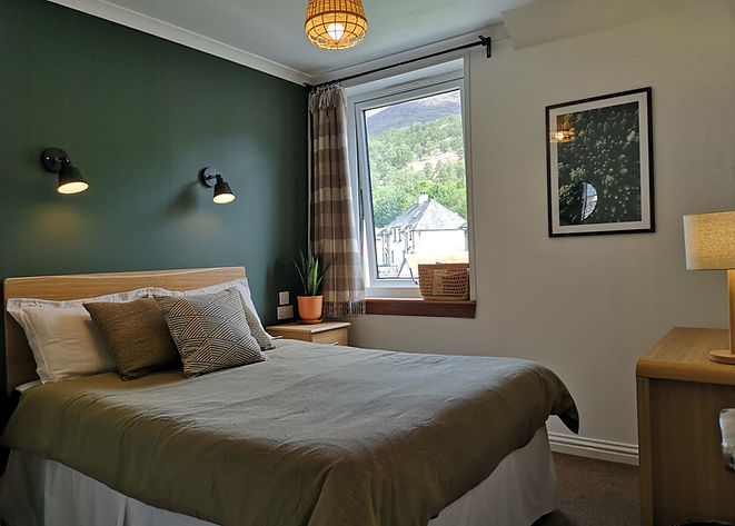 cosy comfortable bright double room with mountain view