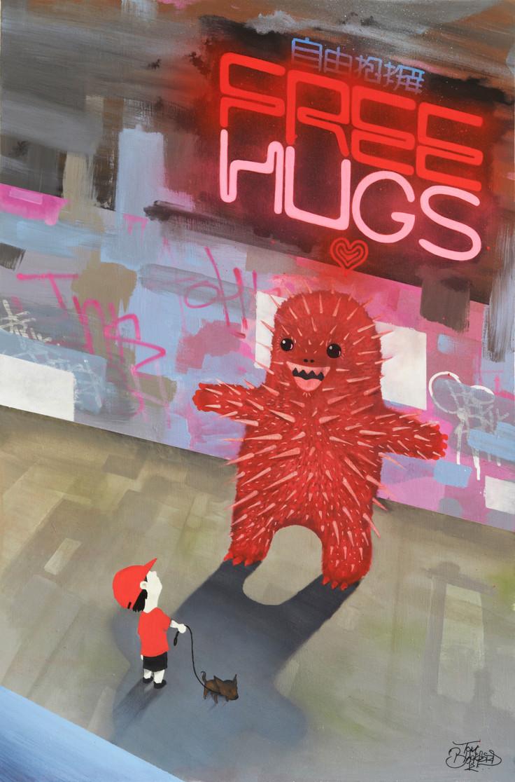 FREE HUGS 24' X 36'.jpg