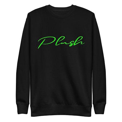Plush Lateral | Women's Sweatshirt (Black, Electric Green)
