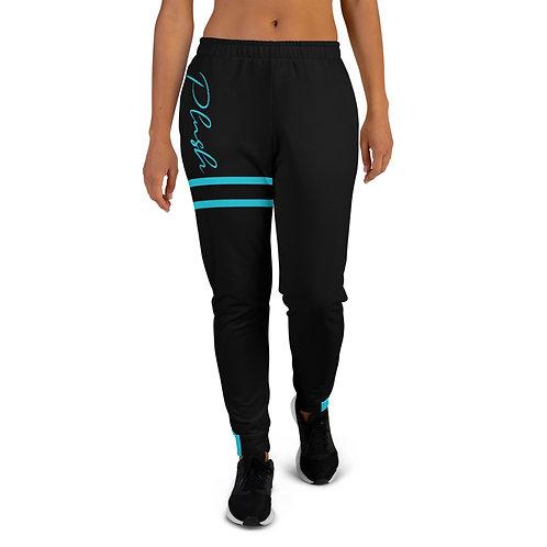 Plush Lateral | Women's Joggers (Black, Blue Ice)
