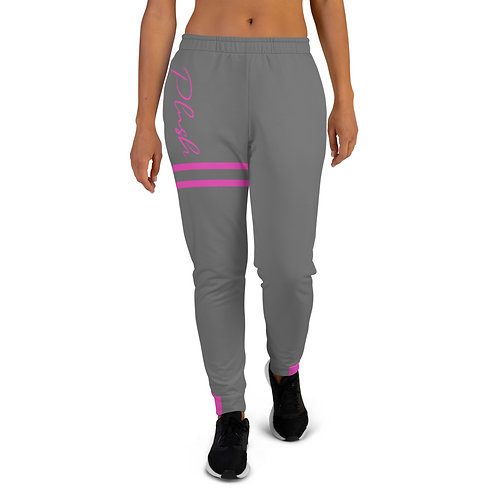 Plush Lateral   Women's Joggers (Gray, Pink)