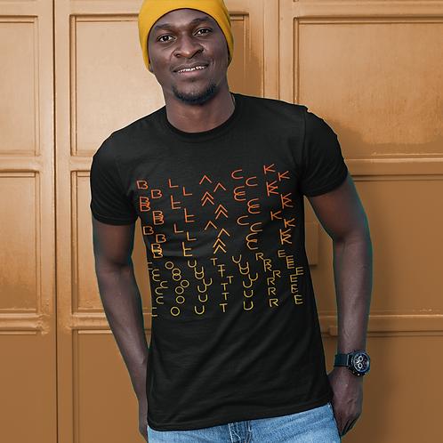 Black Couture | No need to scramble | T-shirt (White | Black, Yellow & Orange)