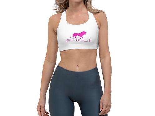 PXLI   Sports Bra (White, Pink)