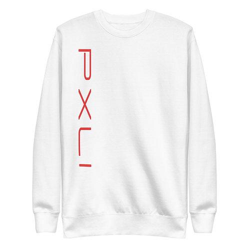 PXLI II - Red   Sweatshirt (White, Red)