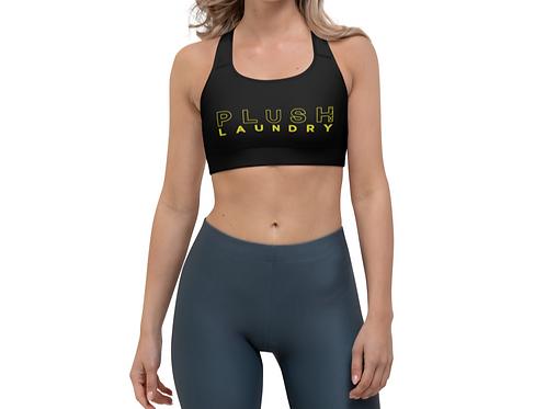 PLUSH LAUNDRY   Sports Bra (Black, Lemon)