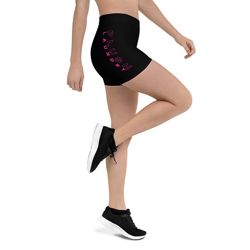 PLUSH LAUNDRY | Fitted Shorts (Black, Pink)