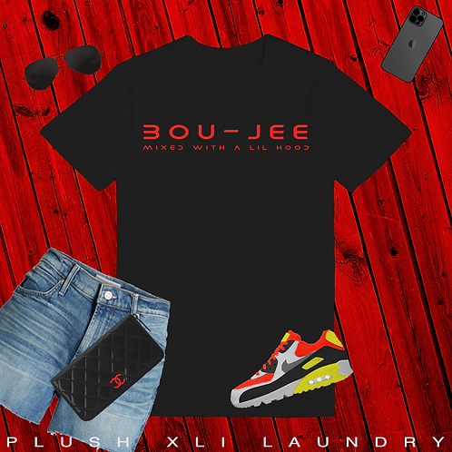 BOU - JEE | T-Shirt (White, Red | Black, Red)