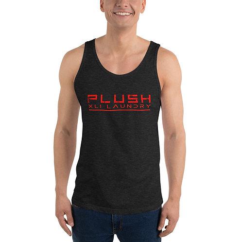 Plush XLI Laundry Tank (Black, White, Gray w Red)