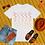 Thumbnail: Black Couture | No need to scramble | T-shirt (White | Black, Yellow & Orange)
