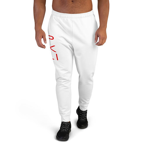 PXLI | Men's Joggers (White, Red)