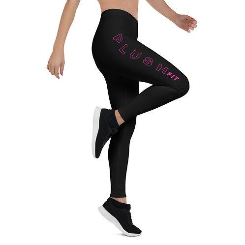 PLUSH•FIT   Leggings (Black, Pink)