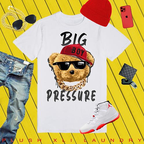 Big Pressure! Teddy   T-shirt (White)