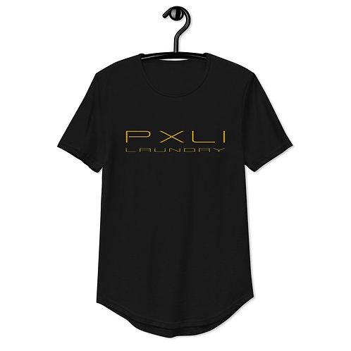 PXLI | Curved Hem T-Shirt (Black)