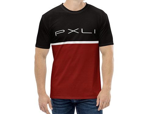 """PXLI """"Da Block""""   Men's T-Shirt (Black, Brick, White)"""
