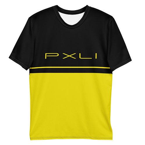 "PXLI ""Da Block"" | Men's T-Shirt (Black, Lemon)"