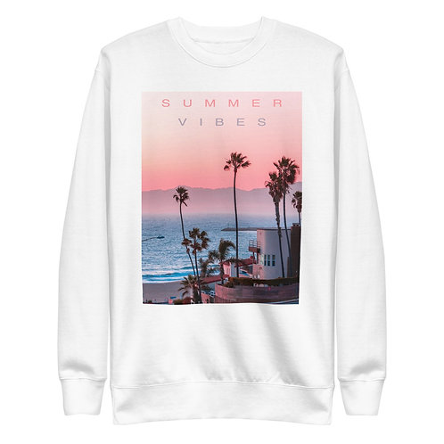 Summer Nights. Summer Vibes   Sweatshirt   (White   Black)