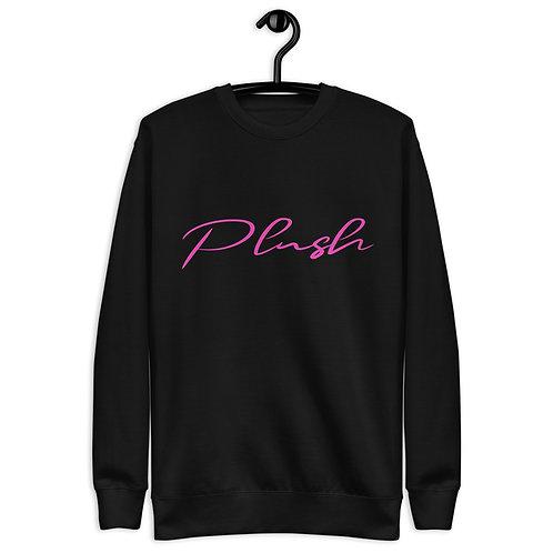 Plush Lateral   Women's Sweatshirt (Black, Pink)