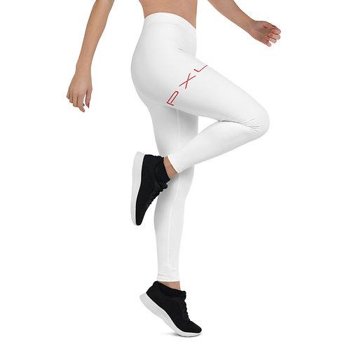 PXLI | Leggings (White, Red)