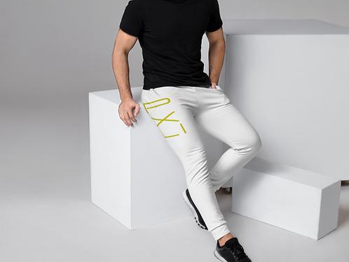PXLI | Men's Joggers (White, Lemon)