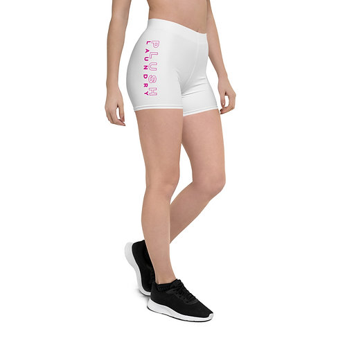 PLUSH LAUNDRY | Fitted Shorts (White, Pink)