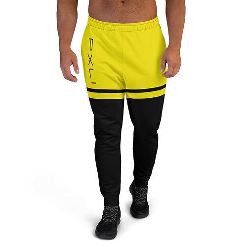 "PXLI ""Da Block"" | Men's Joggers (Black, Lemon)"