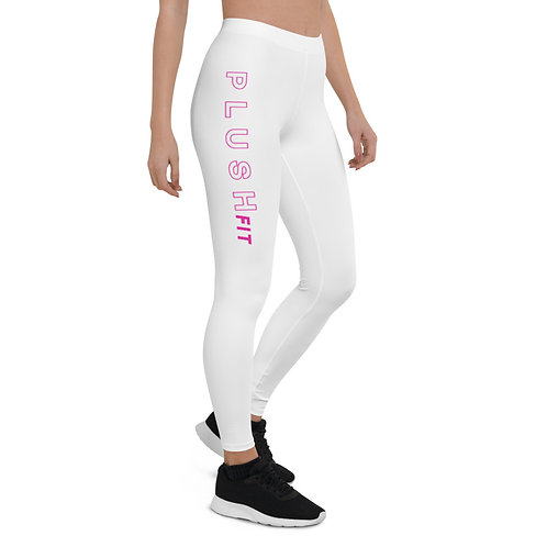 PLUSH LAUNDRY | Leggings (White, Pink)