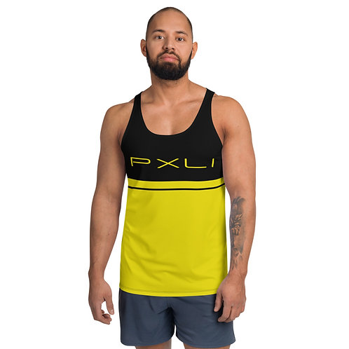 "PXLI ""Da Block"" | Tank T-Shirt (Black, Lemon)"