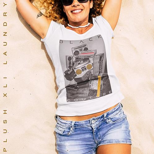Black Couture - B Box Swag | T-Shirt (White, Black, Mauve))