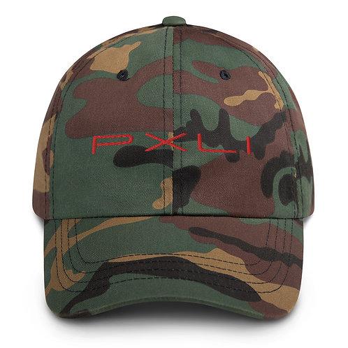 PXLI - Red   Dad Hat (Camo, Black, White)