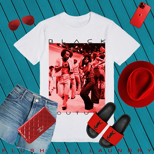 Black Couture | 80's Saturday Morning | T-shirt (White)
