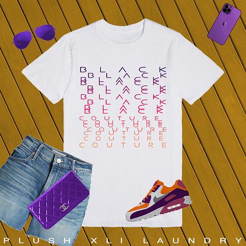 Black Couture | No need to scramble | T-shirt (White | Pink)