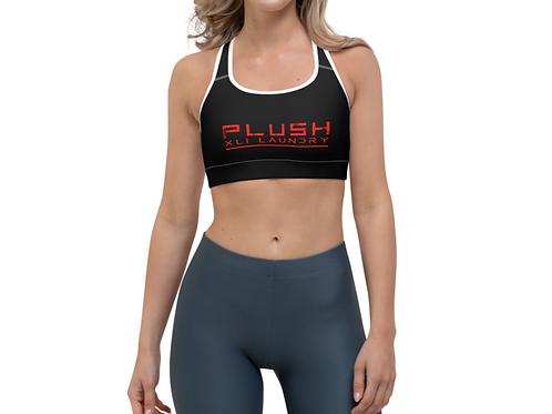 PLUSH XLI LAUNDRY    Sports Bra (Black, Red, White Trim)