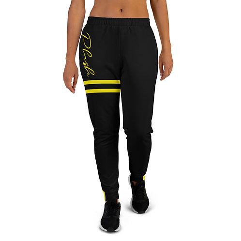 Plush Lateral | Women's Joggers (Black, Lemon)