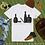 Thumbnail: Bottoms Up   T-Shirt (White, Black)