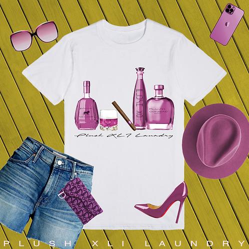 Bottoms Up | T-Shirt (White, Pink)