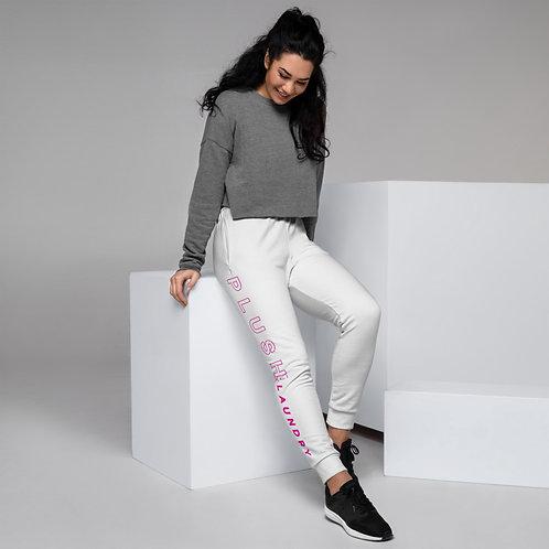 PLUSH LAUNDRY    Joggers (White, Pink)