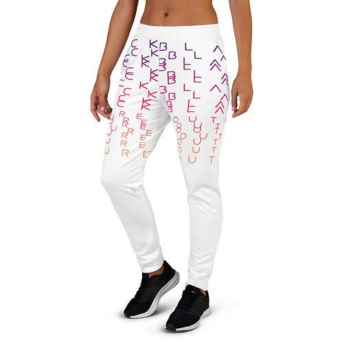 Black Couture | No need to scramble | Joggers (White)